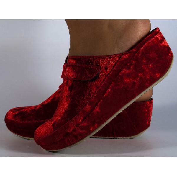 Papuci de casa bordo MUBB din catifea dama/dame/femei (cod 6620.18)