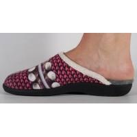 Papuci de casa roz din plus dama/dame/femei (cod 115109)
