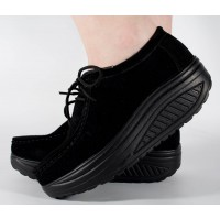 Pantofi negri piele talpa convexa dama/dame/femei (cod 186006)